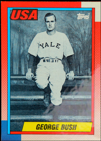 George H.W. Bush baseball card not as rare as first thought