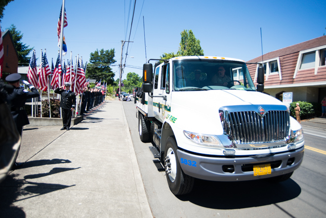 John Percin Jr. Memorial Procession