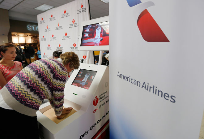 Bored at the airport? Brush up on your CPR while you're waiting