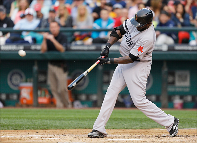 Ortiz sets mark for hits by DH, Boston beats Mariners 11-4