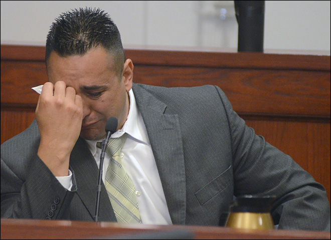 Ex-cop accused of killing wife takes the stand