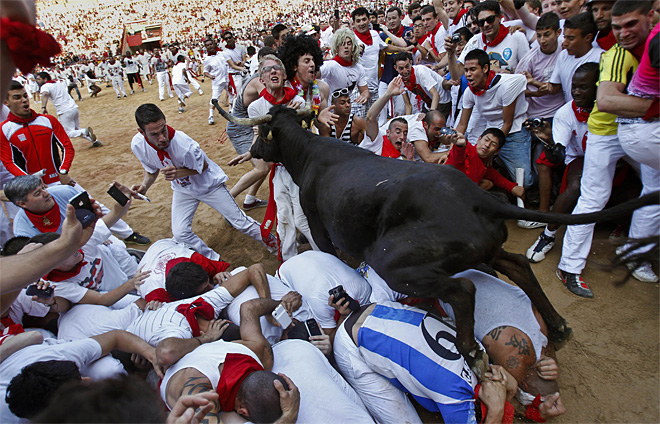 AP10ThingsToSee Spain Running of the Bulls