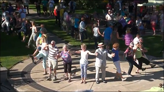 Senior Citizen Flash Mob: 'Age is just a number'