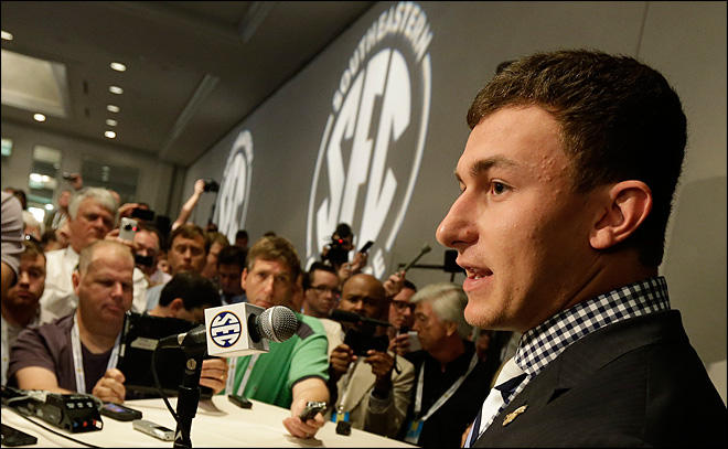 Manziel says he 'overslept' at Manning camp