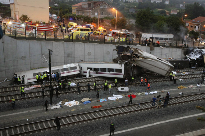 APTOPIX Spain Train Derailment
