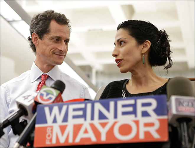 Admiration, puzzlement over Anthony Weiner's loyal wife
