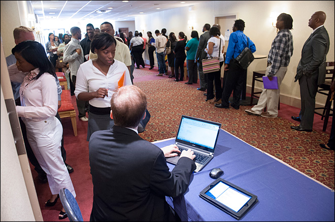 US employers add 169K jobs; rate falls to 7.3 pct.