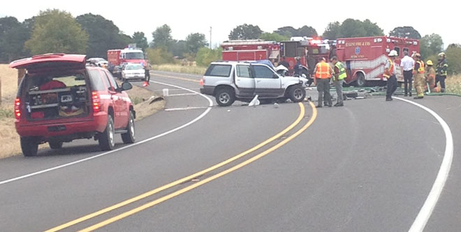 SUV driver killed in head-on crash with ambulance carrying patient
