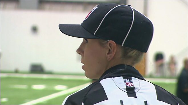 Sarah Thomas hoping to become NFL's first female referee