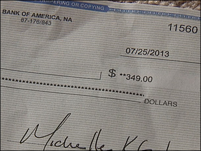 "Bank changes tune about ""invalid"" refund check"