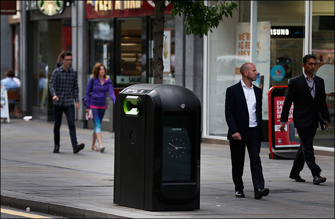 Firm ordered to stop tracking people with high-tech trash cans