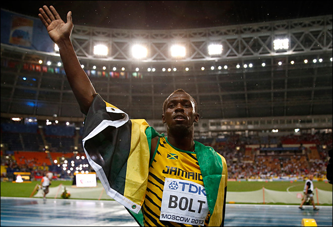 Bolt on verge of joining elite company at worlds
