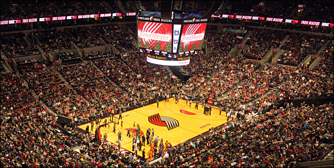 Rose Garden? What Rose Garden? It's the Moda Center now