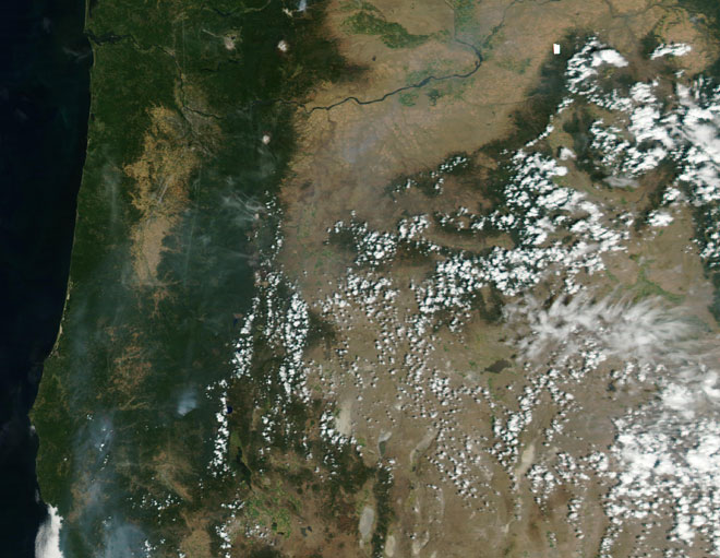 Some forest fire smoke reaches Eugene
