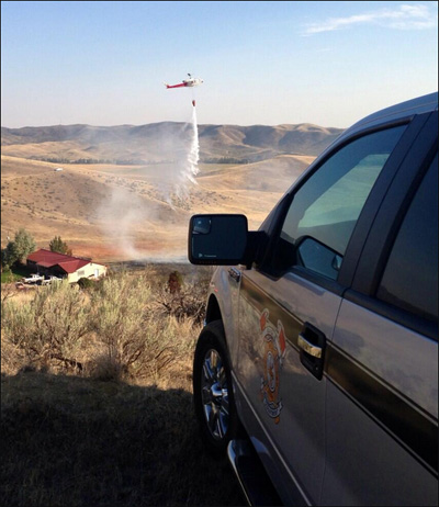 Man trying to smoke out badger sparks grass fire near golf course