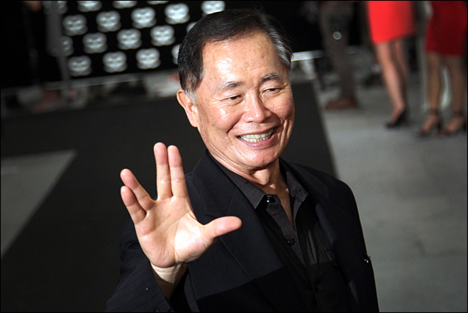 Set facial expressions to 'stunned': George Takei to lead mass chicken dance