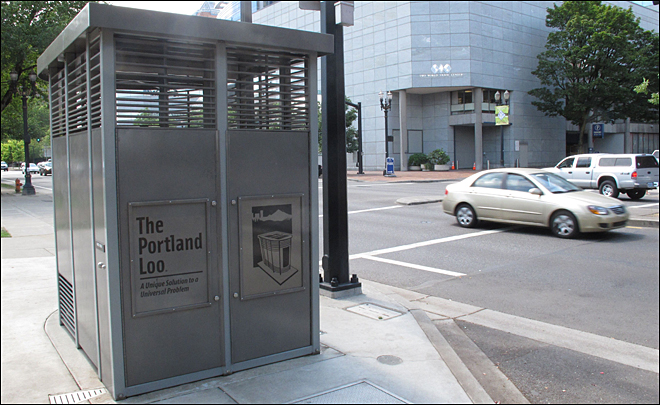 Portland sues over its Loos, citing copyright infringement