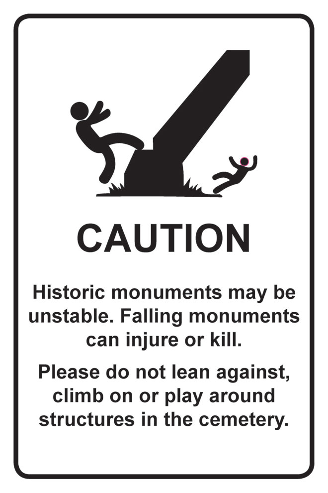 Warning: Historic cemetery ahead