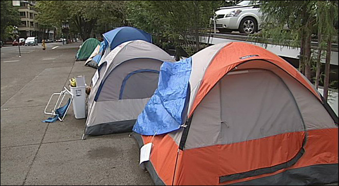 County health official concerned by camp in Free Speech Plaza