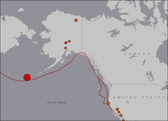 Major quake recorded in Alaska's Aleutian Islands