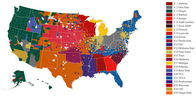 Facebook data: Ducks No. 1 for Northwest fans