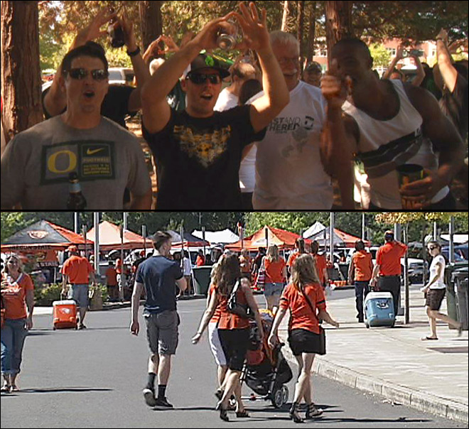 Tailgating at Autzen and Reser: 'This is family... and just a lot of fun!'