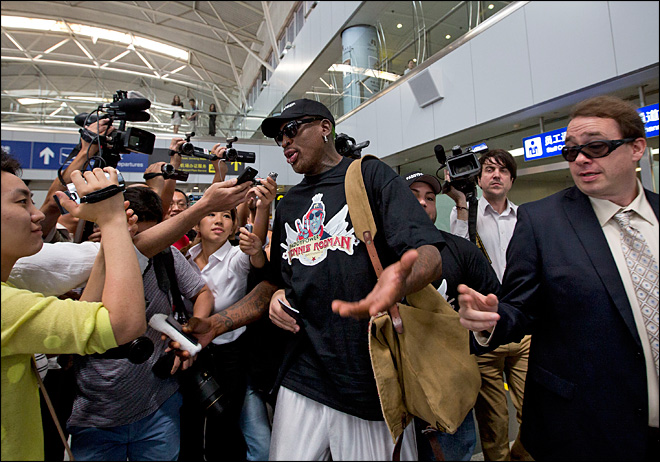 Rodman in N. Korea to prep for game on leader's birthday
