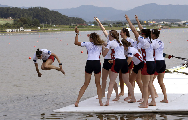 APTOPIX South Korea Rowing Worlds