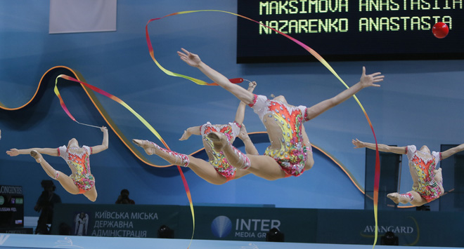 APTOPIX Ukraine Rhythmic Gymnastics Worlds Overview