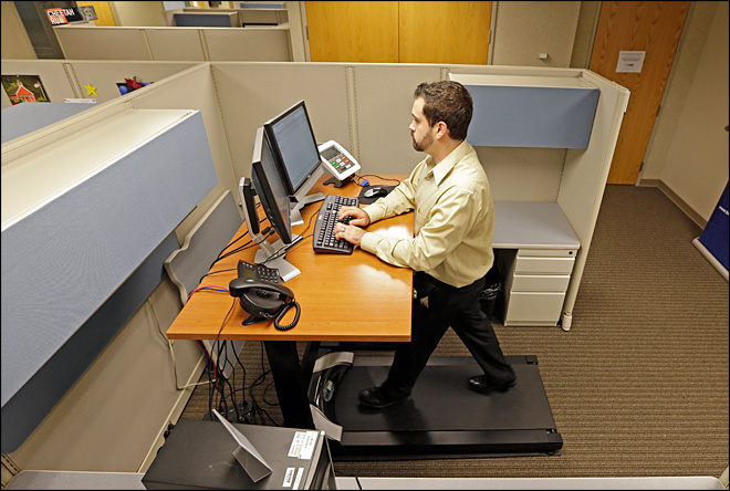 More Americans exercising while they work