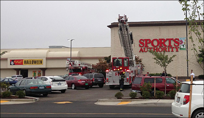 Fire chief: Fire sets off sprinklers inside Sports Authority