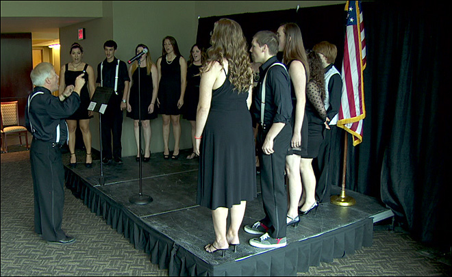 Hopefuls try out to sing national anthem at Blazers games