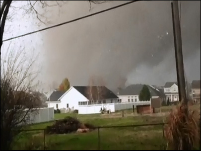 Homeowner gets up close and personal with Illinois tornado