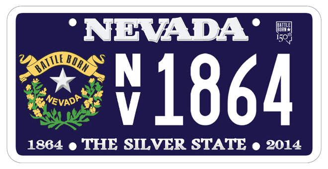 Nevada's 150th anniversary license plates made in Oregon