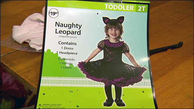 Walmart selling a 'naughty' costume - for 2-year-old girls