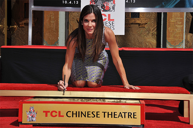 Sandra Bullock Hand and Footprint Ceremony