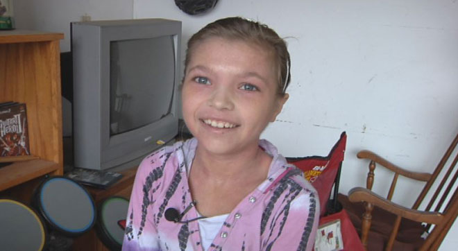 Birthday girl, 11, gives away all her gifts