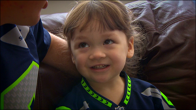 Tiny Seahawks fan has encyclopedic knowledge of the team