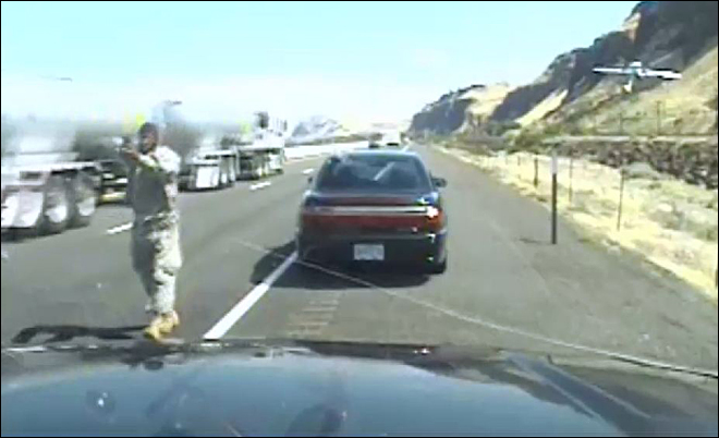 Video shows gun battle between Oregon trooper and suspect
