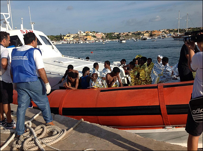 Ship capsizes off Italy; 114 African migrants die