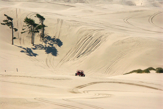 Shutdown: ATVs blocked from public access to the Oregon Dunes