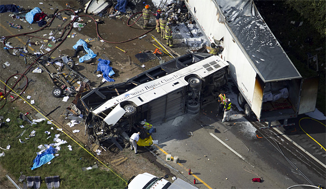 Bus Overturned Tennessee