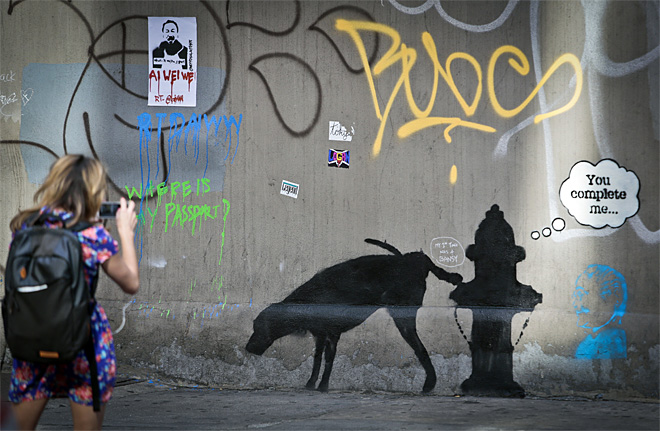 NYC Banksy Graffiti