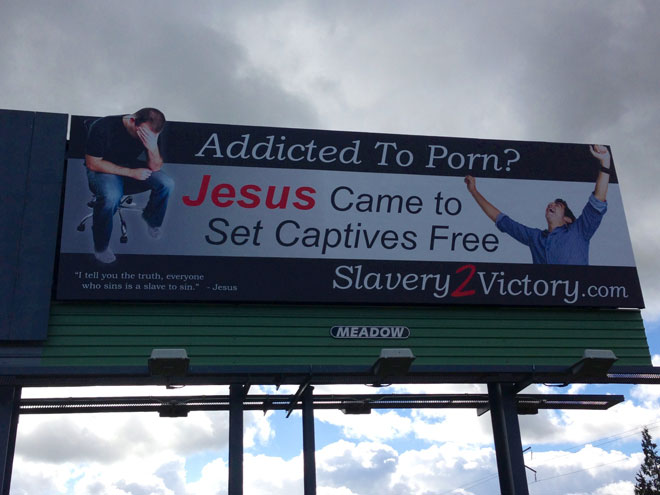 Porn billboard: 'They obviously put it there on purpose'