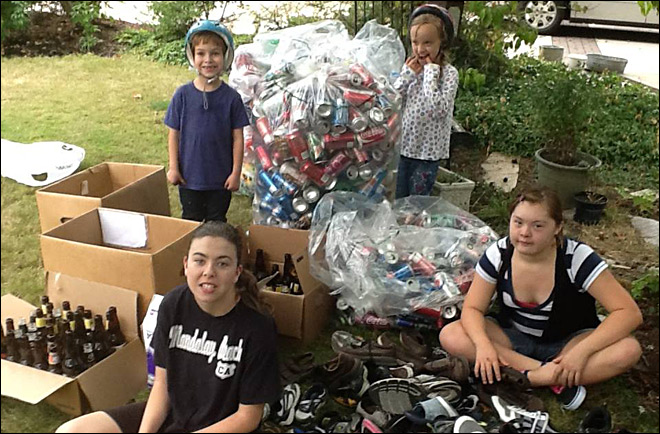 Thief steals cans from child raising money for adopted siblings