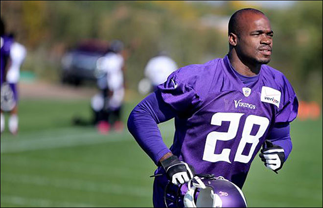 AP: Dead 2-year-old is Vikings RB Adrian Peterson's son