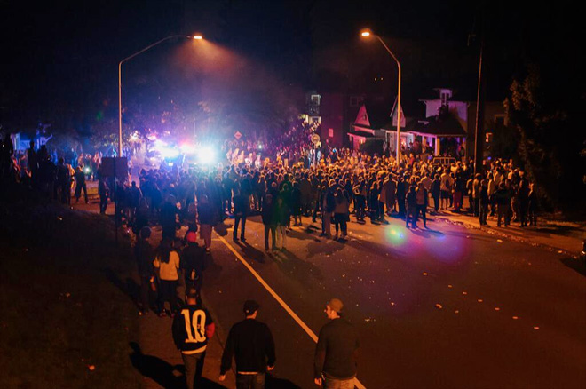 College-age revelers riot, clash with officers in Bellingham