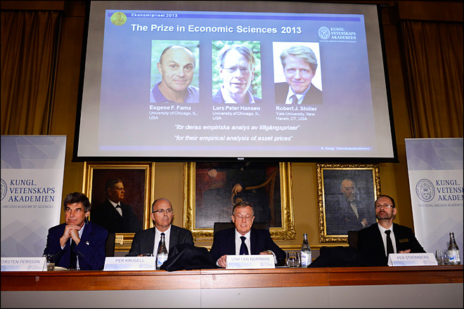 3 Americans win economics Nobel for trend-spotting