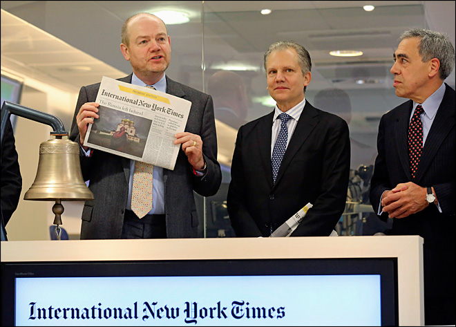 New York Times goes global by rebranding Int'l Herald Tribune