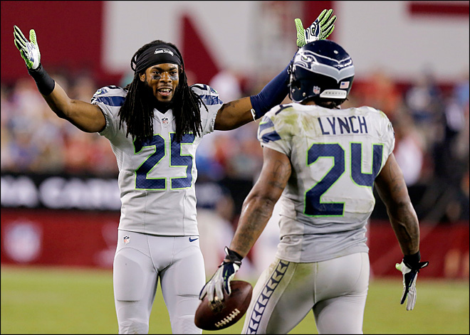 Wilson, Lynch lead Seahawks past Cardinals, 34-22